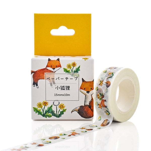 Set of Animal and Nature Washi Tape (5 different design)