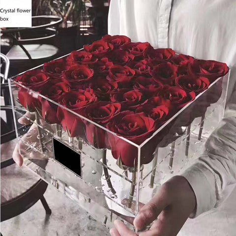 Transparent Rose Holder