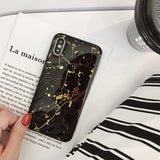 Black Luxury Gold Foil Marble Phone Case