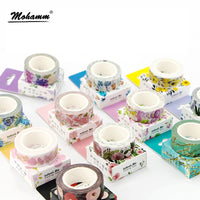 Set of Japanese Flower Washi Tape