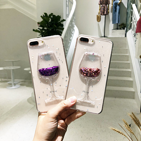 Hot Glitter Wine Glass Phone Case