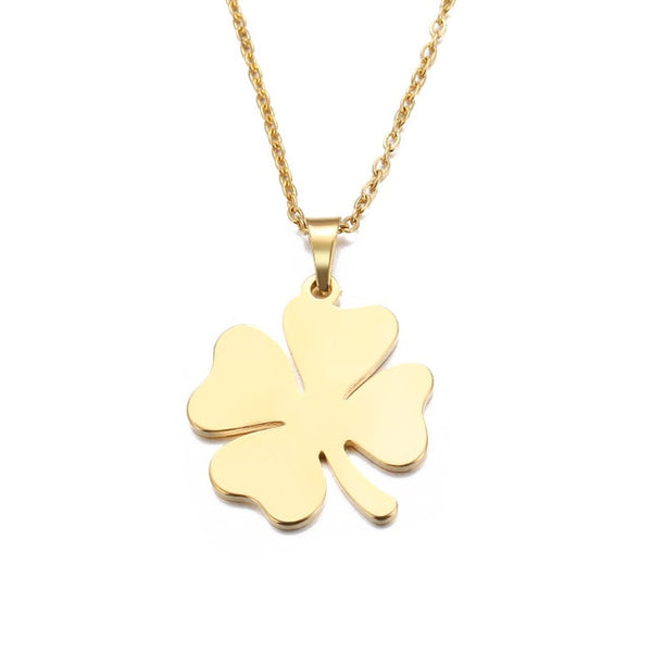 Four Leaf Cover Necklace