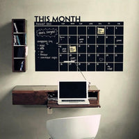 Calendar Blackboard Wall Sticker