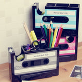 Cassette Tape Stationary Container