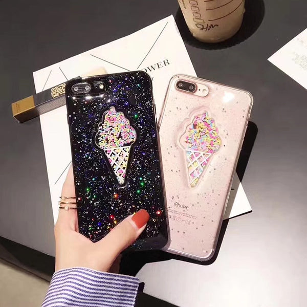 Ice Cream Glitter Phone Case