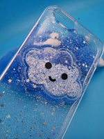 Smiley Cloud and Heart Glitter Phone Case
