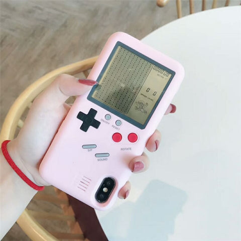 Pink Game boy iphone case