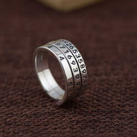 Unique Number Ring - 925 Sterling Silver