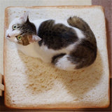 Soft White Bread Bed for Cat