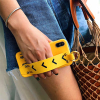 Yellow Wrist Strap iPhone Case