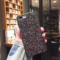 Black Stars Glitter Phone Case