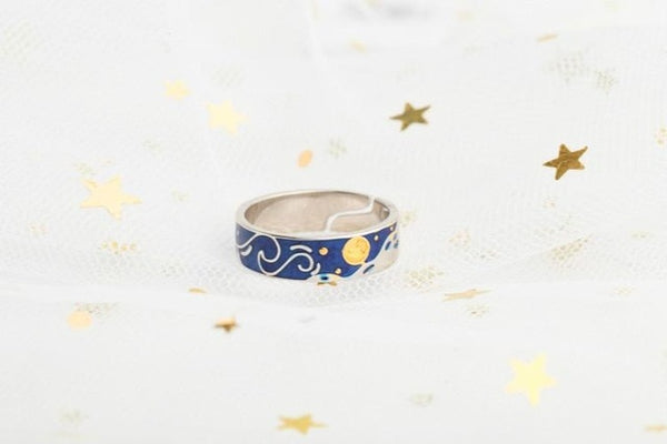 Starry Night Inspired Ring