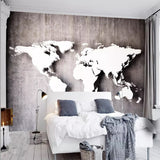 3D World Map Wallpaper