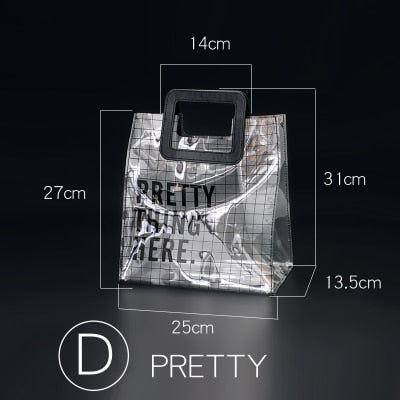 Pretty Thing Here - Transparent Modern Tole Bag