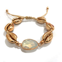 Natural Opalite and Sea Shell Bracelet