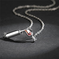 Pouring Wine Necklace