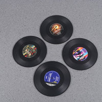 Set of 4 vinyl Record Coasters