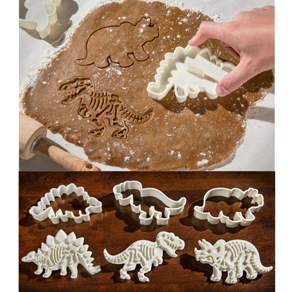 Set of Dinosaur Cookie Cutter