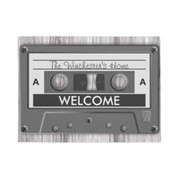 Welcome Cassette Tape Floor Mat