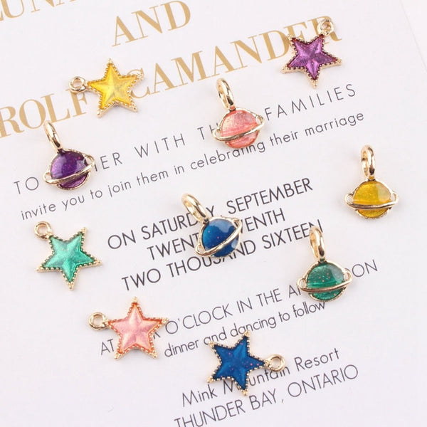 Set of Stars Pendant Charms