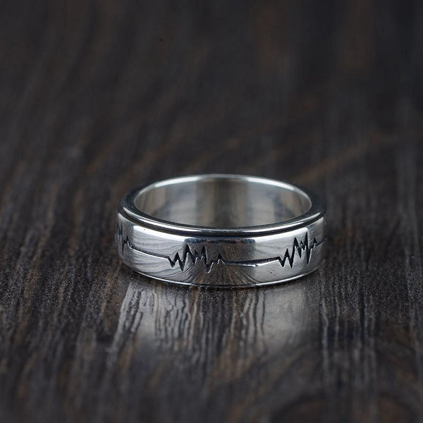 Heartbeat Ring - 925 Sterling Silver