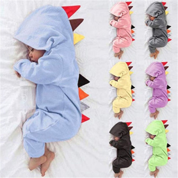 Dino Baby Hoodie Colorful Set