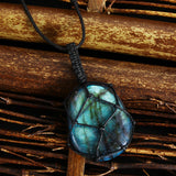 Natural Labradorite - Dragon Heart Necklace