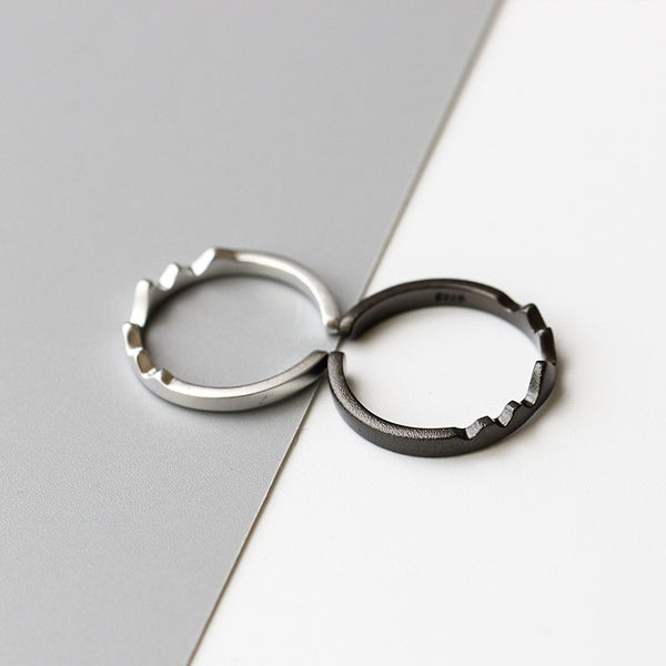 Wave and Mountain Rings for couples
