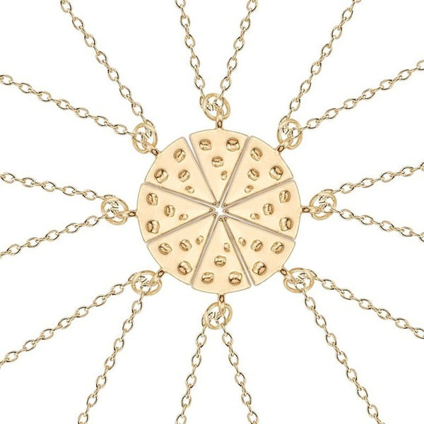 Pizza Friendship Split Necklace