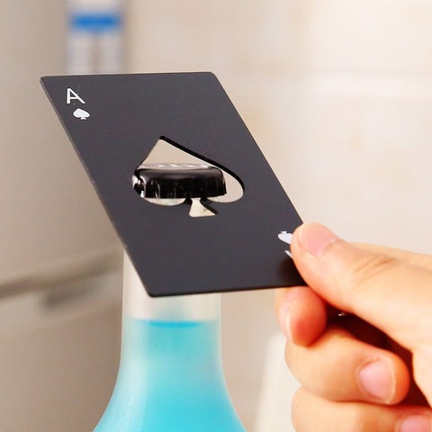 Black Ace Bottle Opener