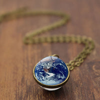 Earth Glass Ball Necklace