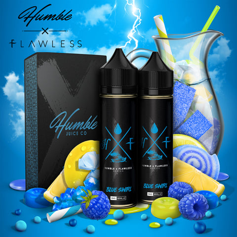 Humble X Flawless Blue Swirl 60ml PRE-ORDER - Vape Square