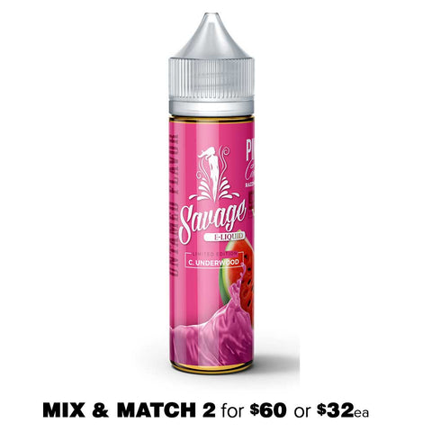 C. Underwood (Pink Candy, Watermelon, Cherry) by Savage E-Liquid - 50mL E-Liquid - Vape Square