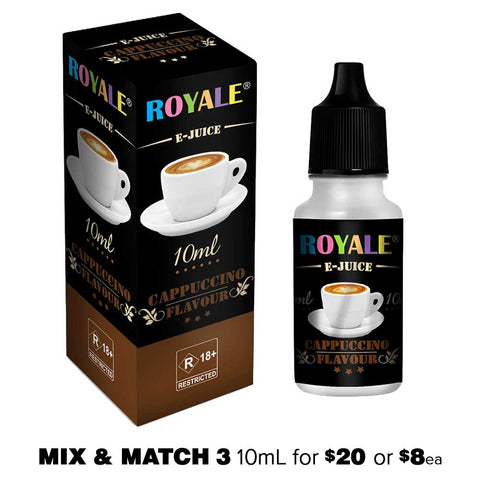 Cappuccino by Royale E-Juice - 10mL E-Liquid