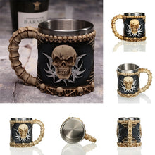 Load image into Gallery viewer, Viking Warrior Skull Mug