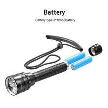 Load image into Gallery viewer, 25000 Lumens Diving Flashlight
