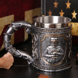 Viking Skull Coffee Beer Mug