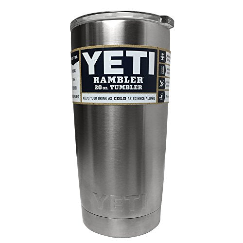 YETI Rambler 20 oz Stainless Steel Vacuum Insulated Tumbler with Lid (Stainless Steel) - Save and Shop Collections