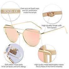 Load image into Gallery viewer, SojoS Cat Eye Mirrored Flat Lenses Street Fashion Metal Frame Women Sunglasses - Save and Shop Collections