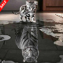 Load image into Gallery viewer, 5D DIY Diamond Painting Cat Reflection Tiger - Save and Shop Collections