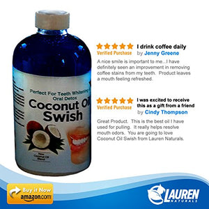 Ayurveda Oil Pulling Coconut Oil and Bad Breath Remedy - Save and Shop Collections