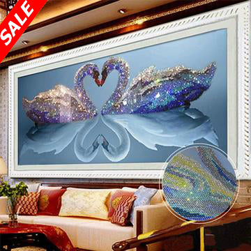 5D DIY Diamond Painting Two Swans - Save and Shop Collections