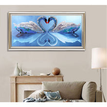 Load image into Gallery viewer, 5D DIY Diamond Painting Two Swans - Save and Shop Collections