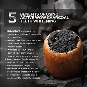 Active Wow Teeth Whitening Charcoal Powder Natural - Save and Shop Collections