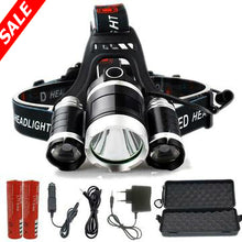 Load image into Gallery viewer, LED Headlamp - 13000 Lumen Z20 T6 - Black/Silver