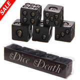 Black Skull Dice (Set of 5) - Save and Shop Collections