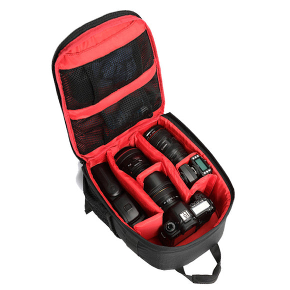 Waterproof Photo Padded Backpack with Rain Cover - Save and Shop Collections