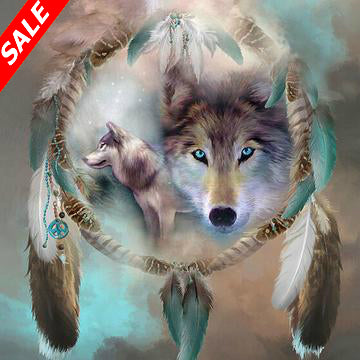 5D DIY Diamond Painting Wolf Calling - Save and Shop Collections