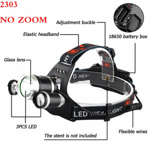 LED Headlamp - 13000 Lumen Z20 T6 - Black/Silver