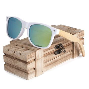 Polarized Wood Holder Sunglasses with Wood Box - Save and Shop Collections